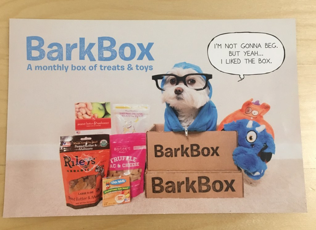 Barkbox postcard