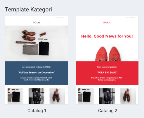 Email Template Catalog MailTarget