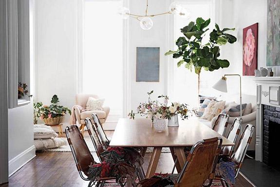 Une salle à manger cosy et bohème | déco bohème | déco cosy #décocosy #salonbohème