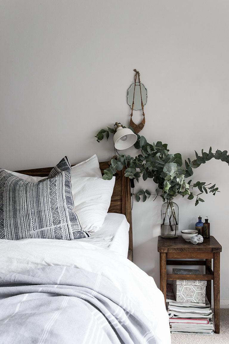 Pour une chambre à l'esprit scandinave et naturel, pensez à l'eucalyptus !