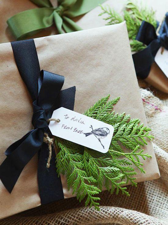 4 idées pour réaliser un emballage cadeau rapide en kraft