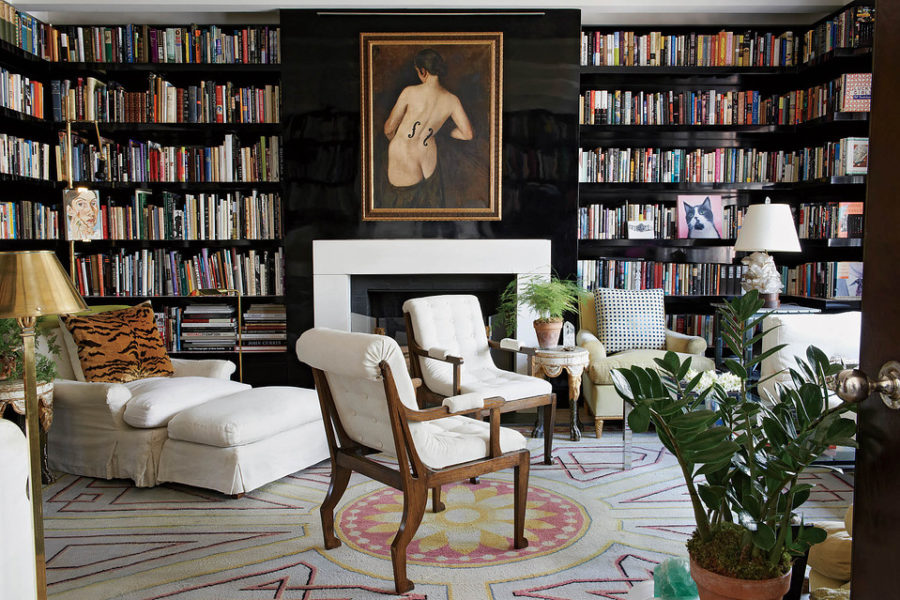 Une magnifique bibliothèque de style bourgeois