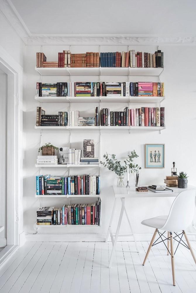 Idée déco pour une bibliothèque blanche