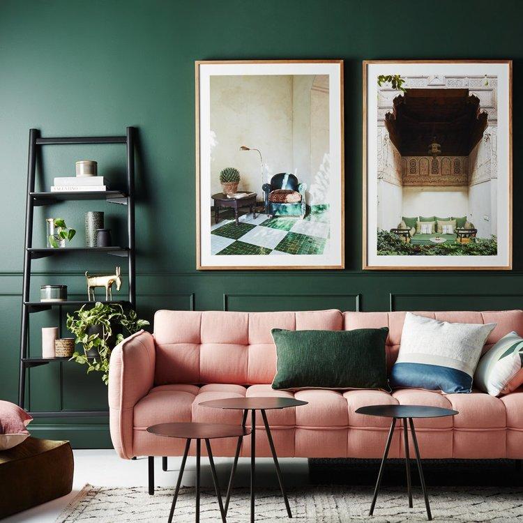 Quelle couleur associer au vert sapin et au rose poudré