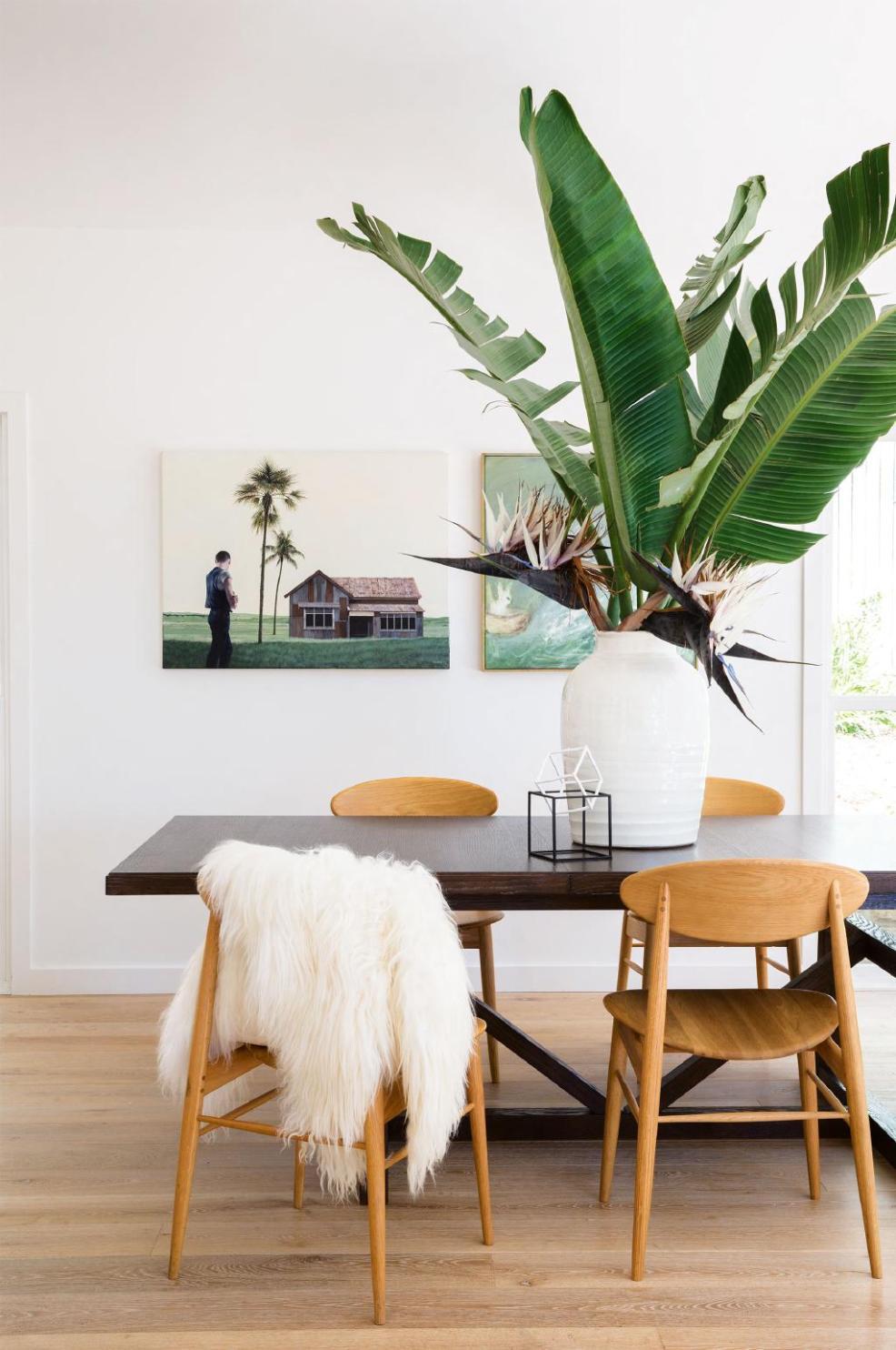 Une déco originale avec les feuilles de bananier, sublime plante exotique