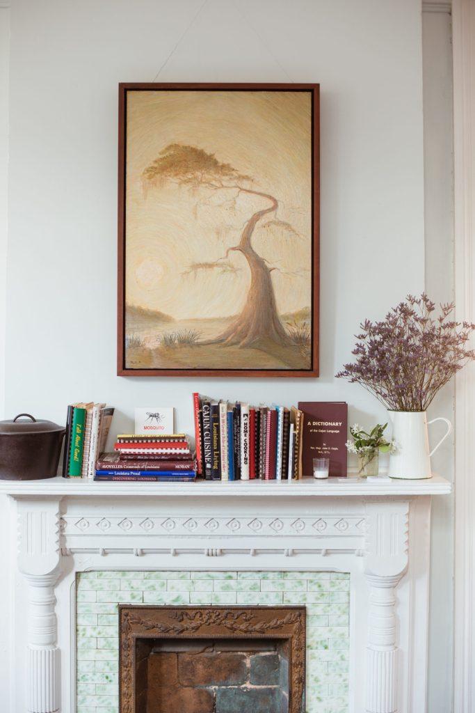 Afficher un tableau au dessus d'une cheminée
