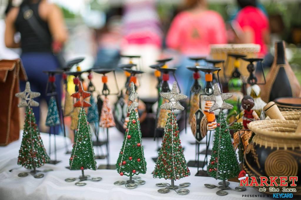 Jamaica in December - Market at the Lawn Devon House