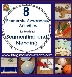 8 Great Ideas for Teaching Segmenting and Blending - Make Take \u0026 Teach [ 1066 x 1066 Pixel ]
