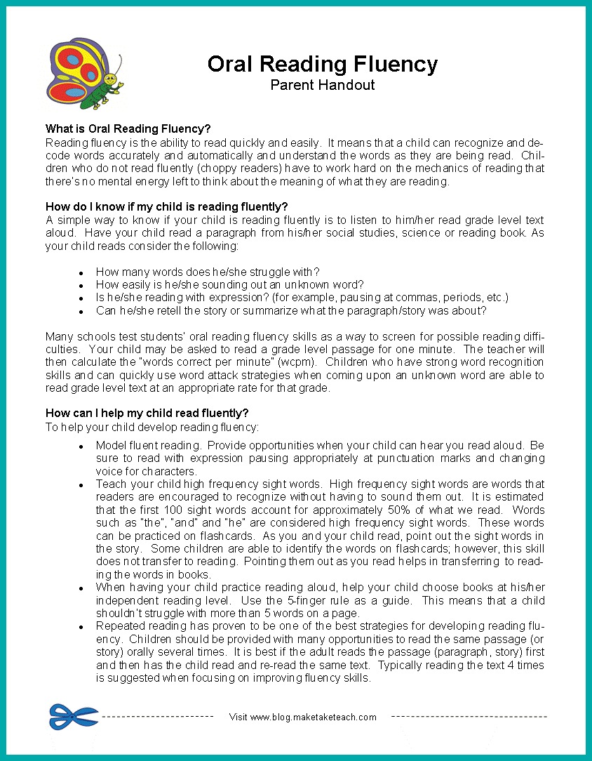 Parent Handouts Perfect For Conferences! Make Take & Teach