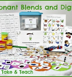 Teaching Blends and Digraphs - Make Take \u0026 Teach [ 826 x 1226 Pixel ]