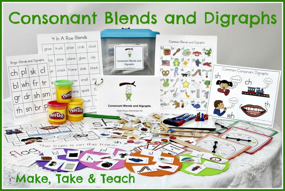 medium resolution of Teaching Blends and Digraphs - Make Take \u0026 Teach