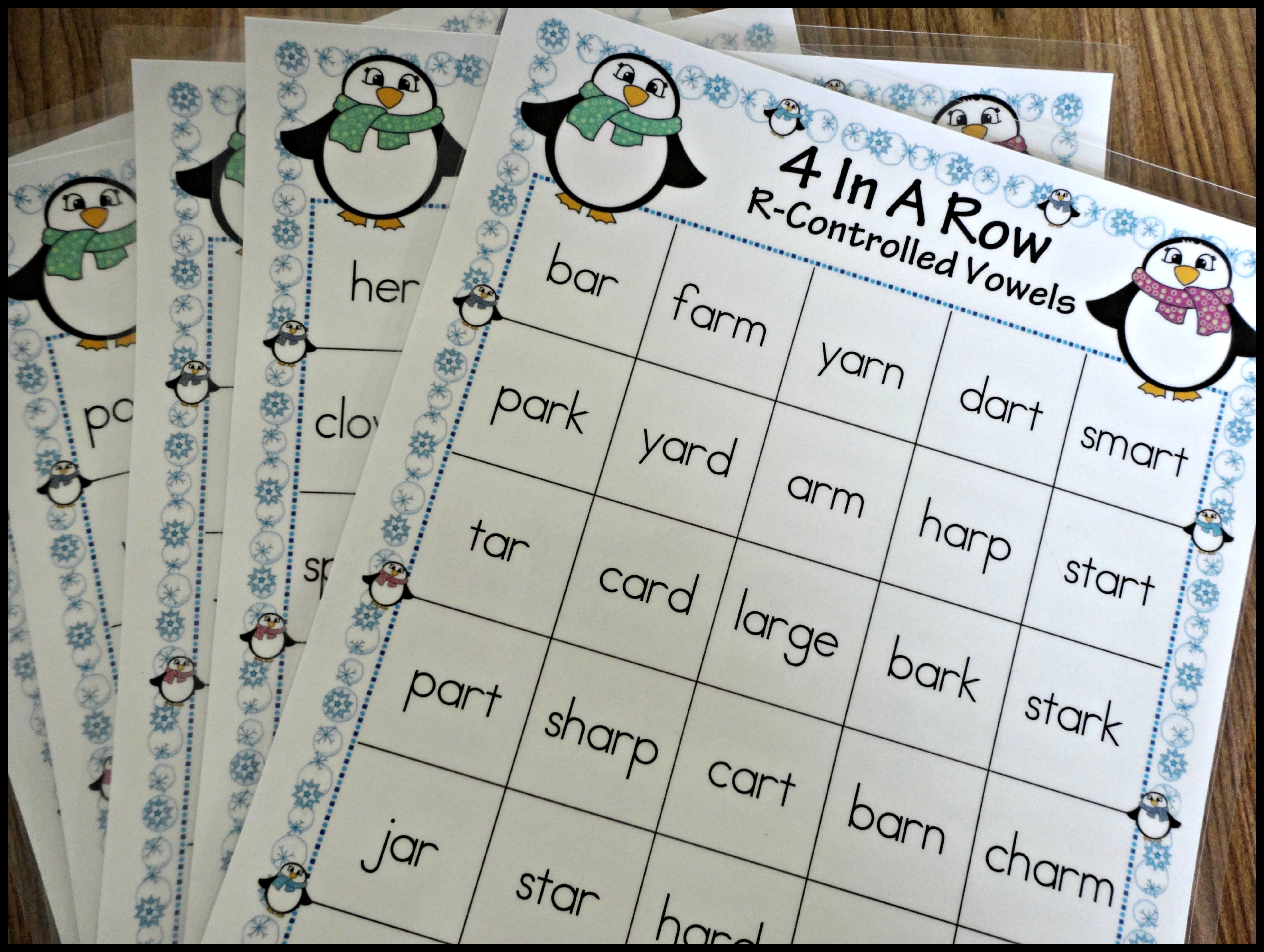 Winter Themed Activities For Teaching R Controlled Vowels