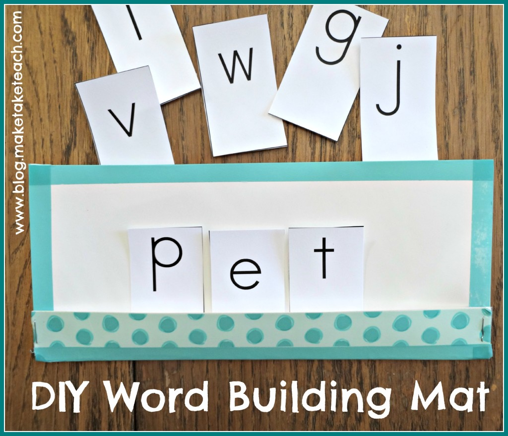 Word Building Mat A Quick And Easy Diy Project