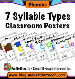 7 Syllable Types Classroom Posters - Make Take \u0026 Teach [ 2550 x 3300 Pixel ]