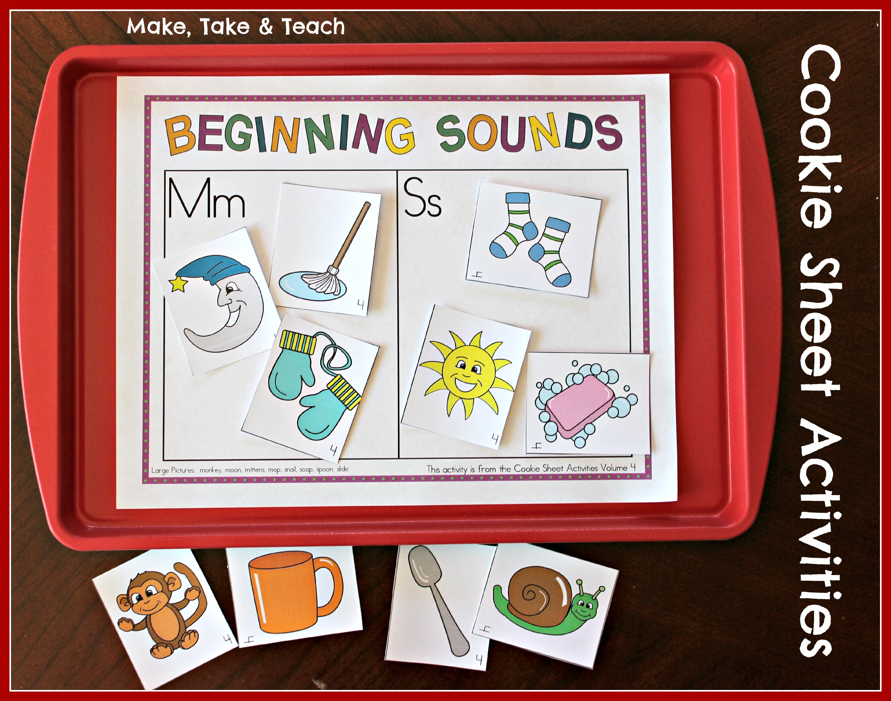 Cookie Sheet Activities Pre K K Bundle Early Literacy
