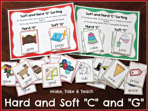 small resolution of Teaching the Hard and Soft \C\ and \G\ - Make Take \u0026 Teach