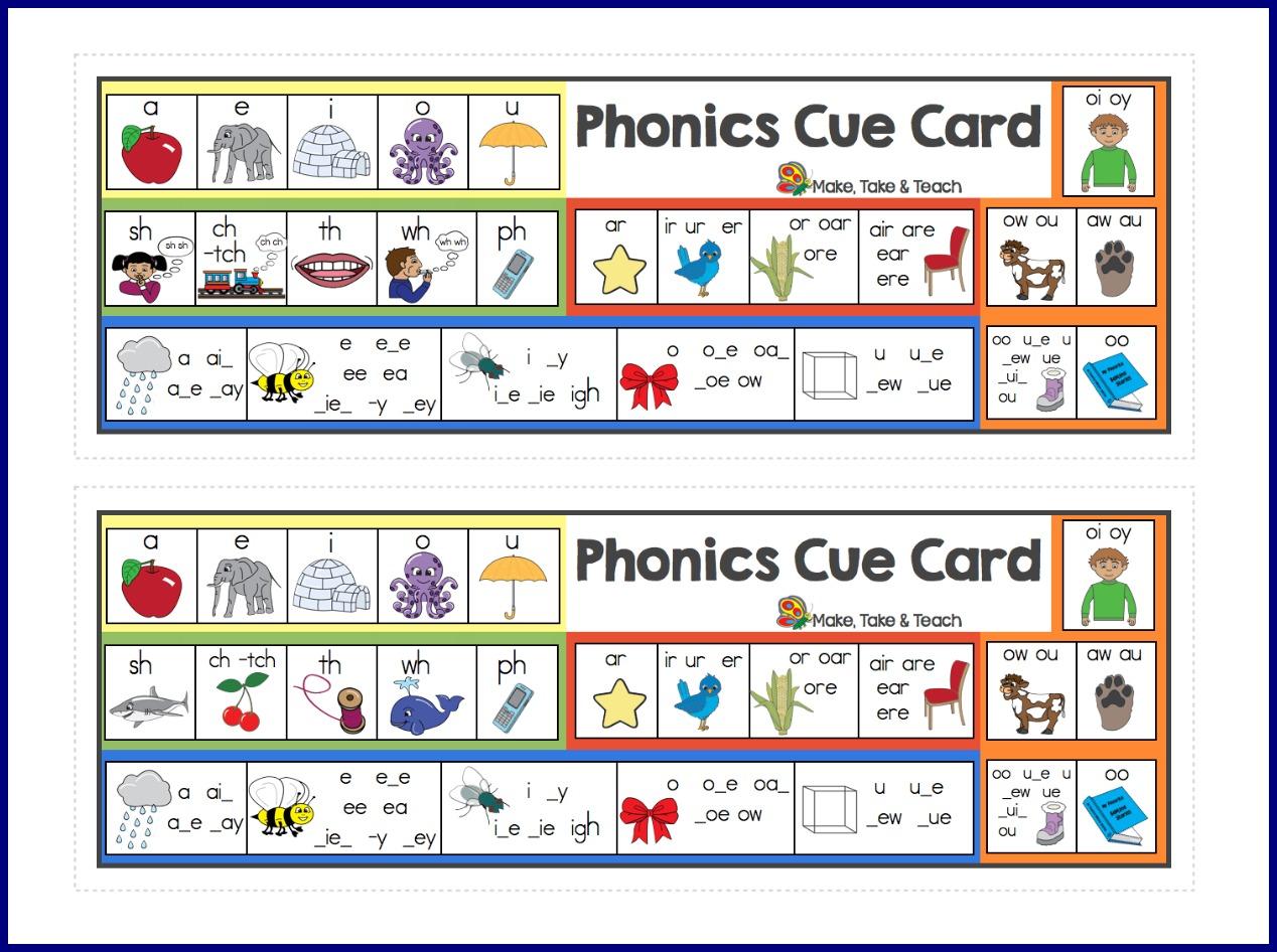 Phonics Cards Printable