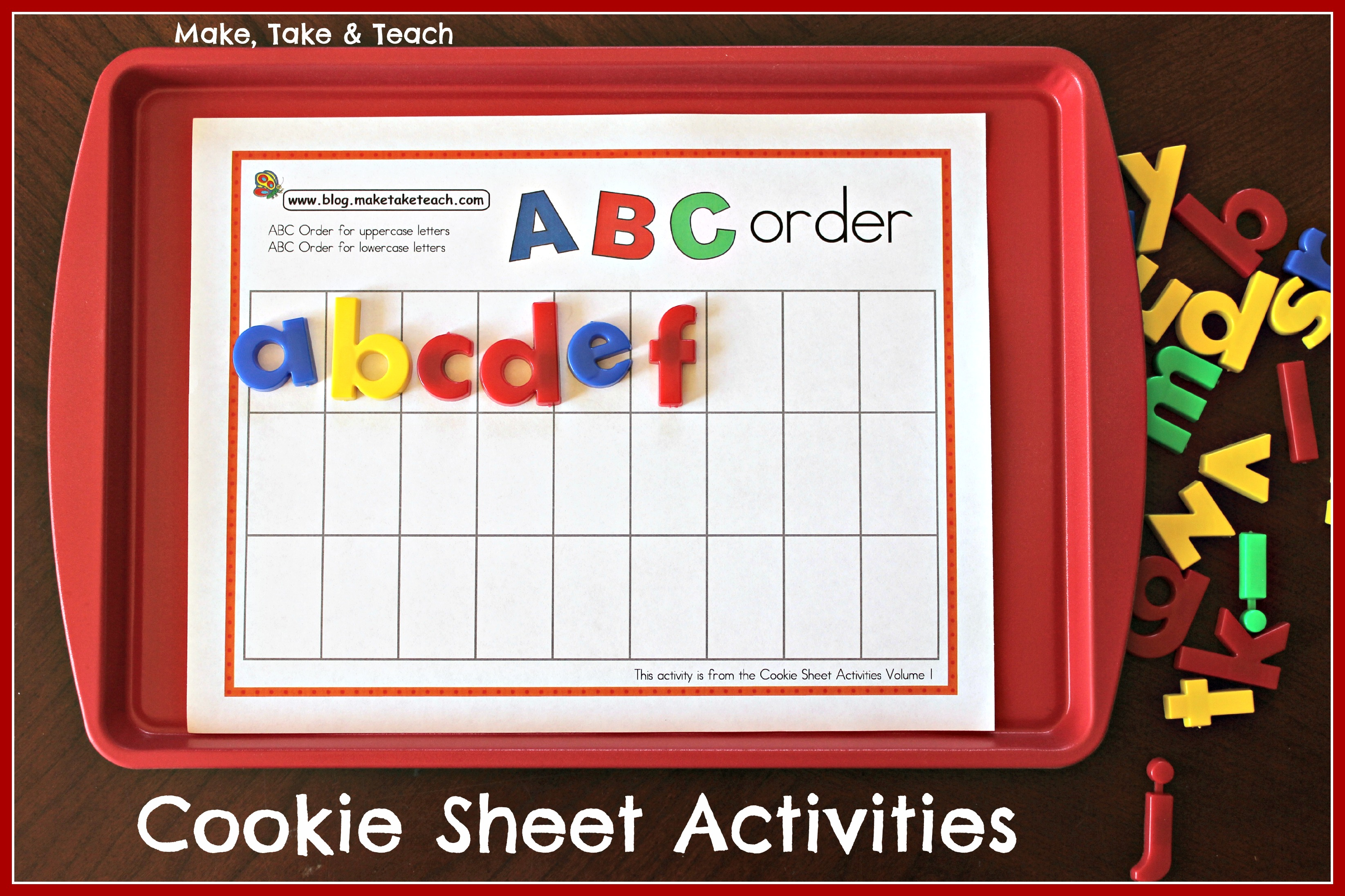 Cookie Sheet Activities For Early Literacy