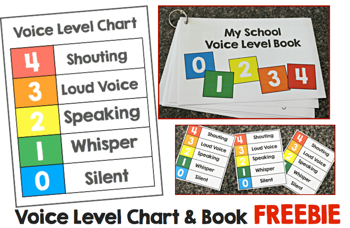 Voice Level Chart FREEBIE  Make Take  Teach