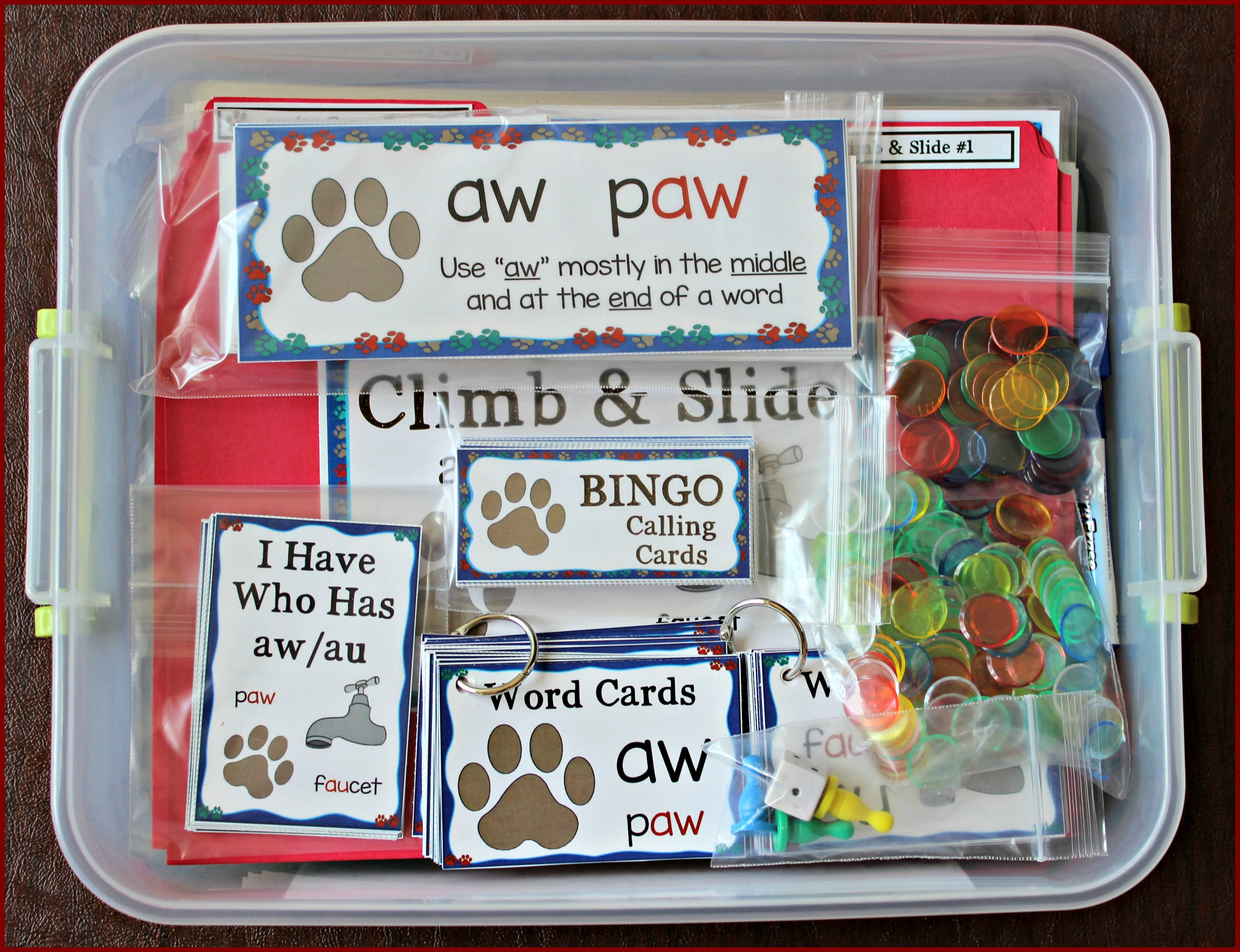 Activities For Teaching The Au Aw Digraphs