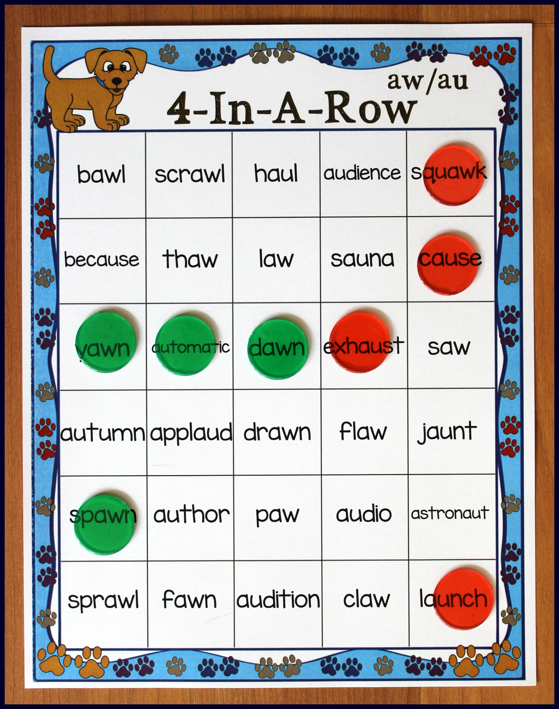 Vowel Diphthong Center Word Work Activity Grade 1 2nd Grade