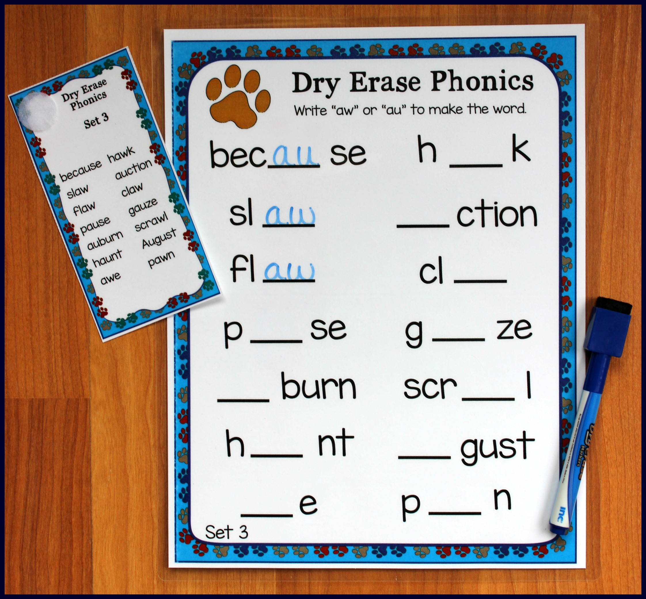 Aw Au Phonics Worksheets First Grade Aw Best Free Printable Worksheets