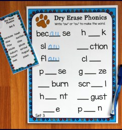 Activities for Teaching the au/aw Digraphs - Make Take \u0026 Teach [ 2083 x 2244 Pixel ]