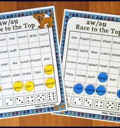 Activities for Teaching the au/aw Digraphs - Make Take \u0026 Teach [ 1461 x 2049 Pixel ]