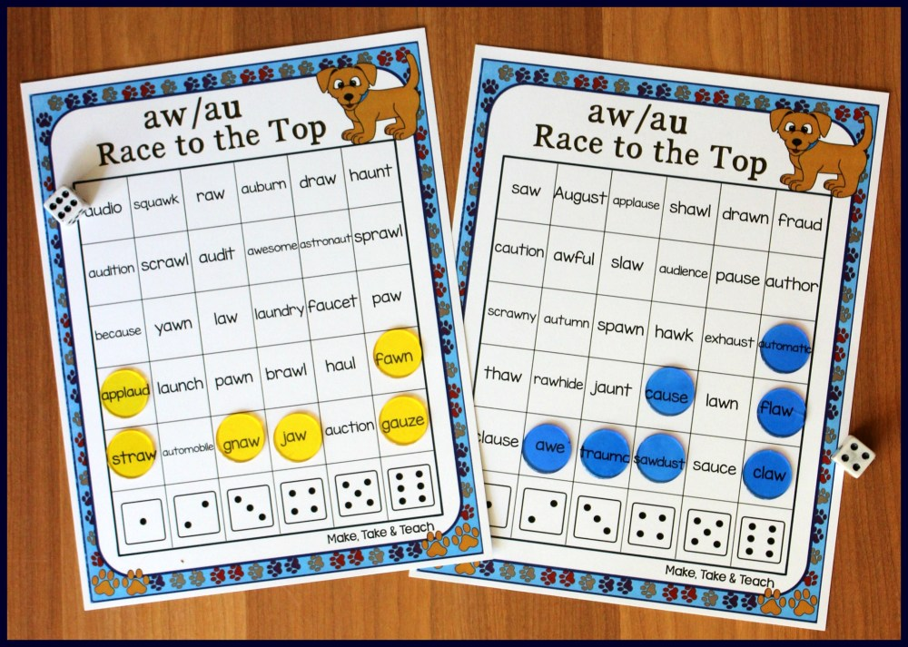 medium resolution of Activities for Teaching the au/aw Digraphs - Make Take \u0026 Teach