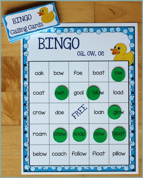 small resolution of Activities for Teaching the oa/ow/oe Digraphs - Make Take \u0026 Teach