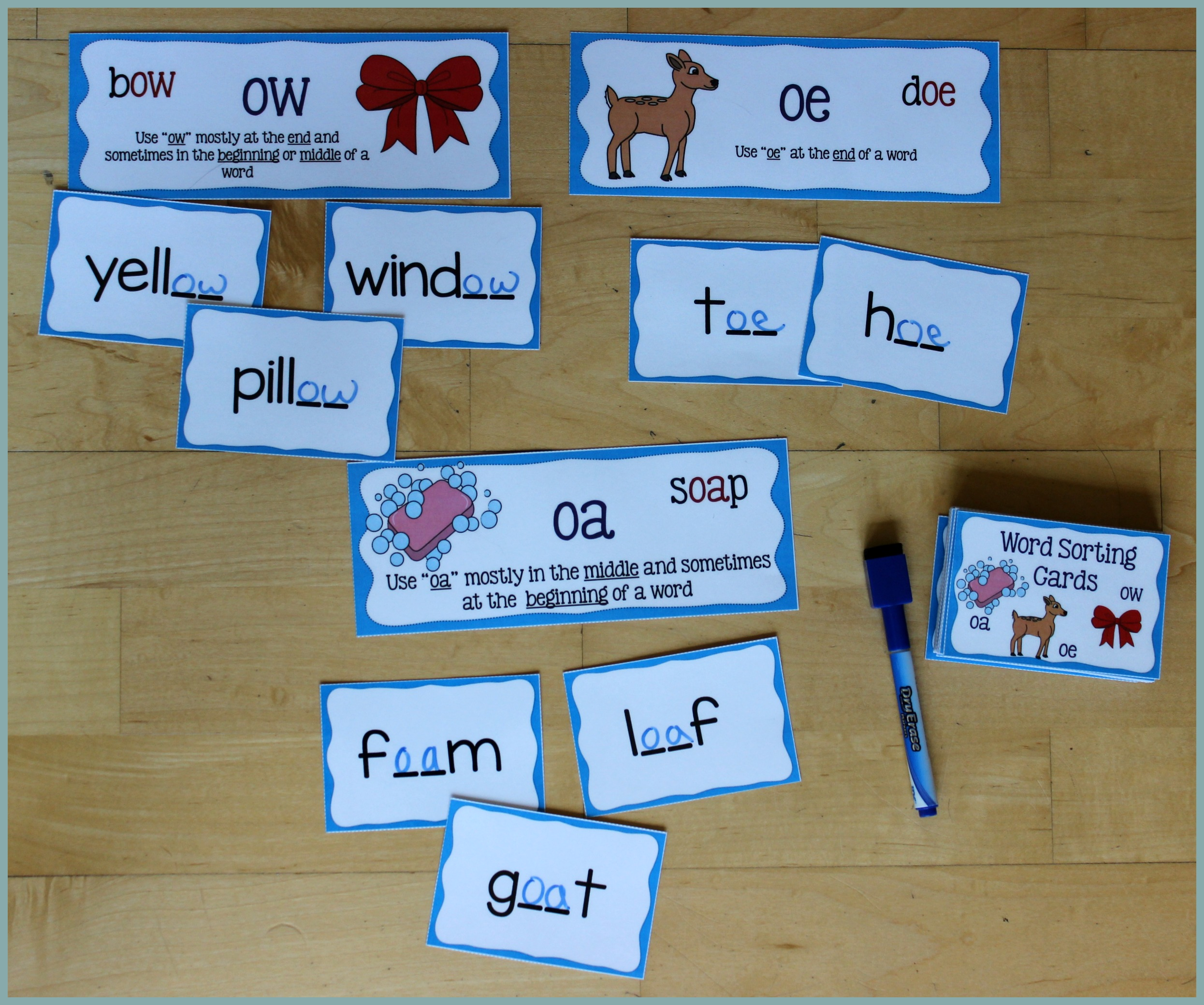 Activities For Teaching The Oa Ow Oe Digraphs