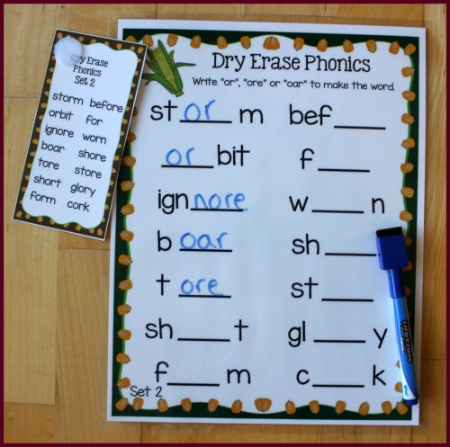 small resolution of Or Ore Oar Worksheets   Printable Worksheets and Activities for Teachers