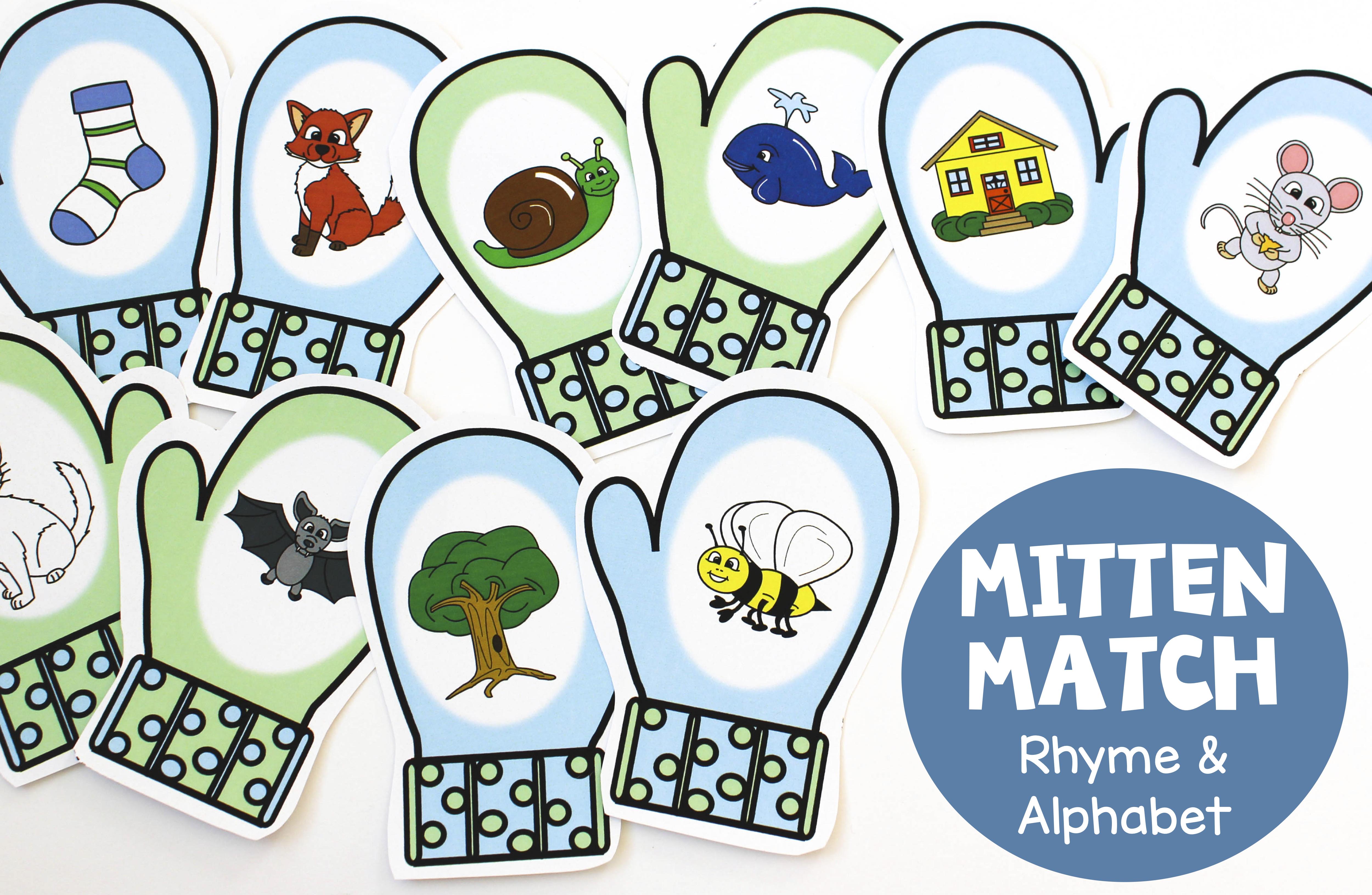 Mitten Match Activities For Rhyme And Letters Amp Sounds