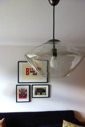 Soren glass pendant light