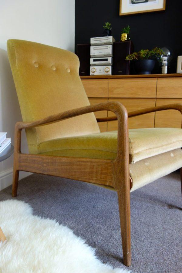 mid century teak chair