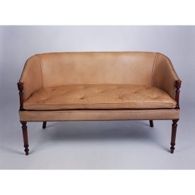 Poker Leather 2 Seater Sofa by Curzon Gallery Collection