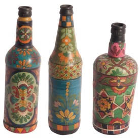 3 Piece Decorative Bottle Set by Ian Snow