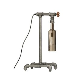 Industrial Bottle Table Lamp by All Home