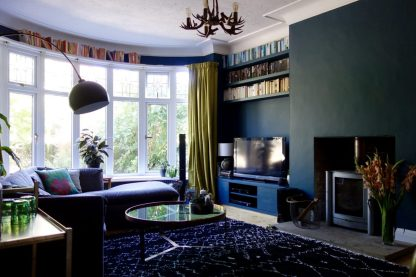 Dark Green Living Room