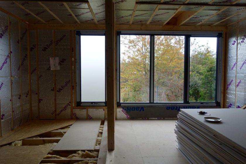 Aluminium windows loft extension