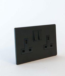 designer_double_wall_socket_matt_black
