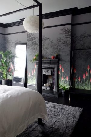 brook bedroom upper spaces making interior harrogate street bed bedding sets abstract fluid teal edwardian reveal pre greene comforters sham