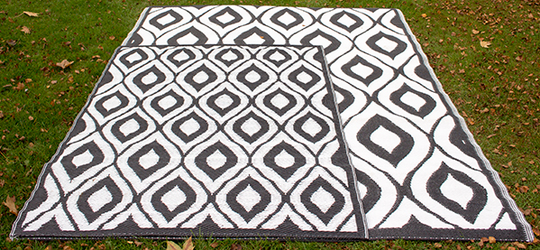 Large Monochrome Outdoor Rug