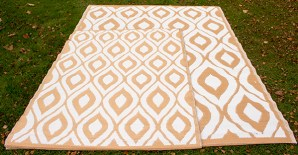 Large Ochre Outdoor Rug