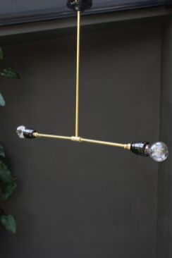 Brass and Porcelain Ceiling Light from Rockett St George
