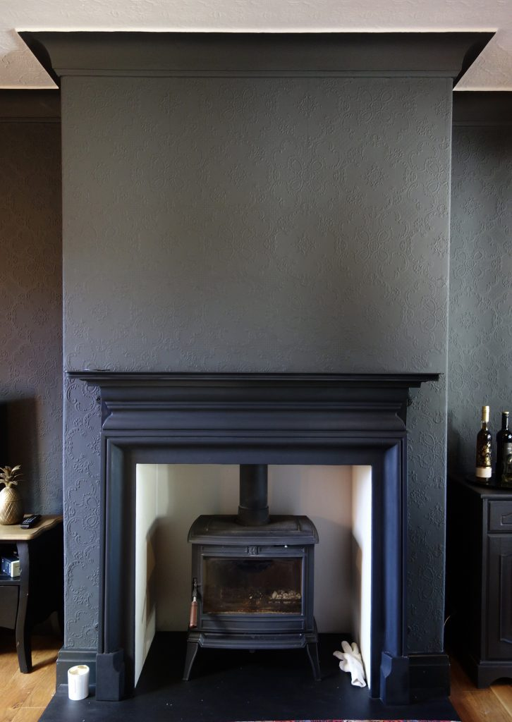 Palmerston 54 inch black Mantle