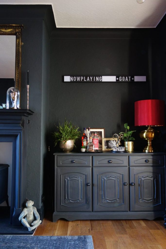 Upcycled welsh dresser in Annie Sloan Black