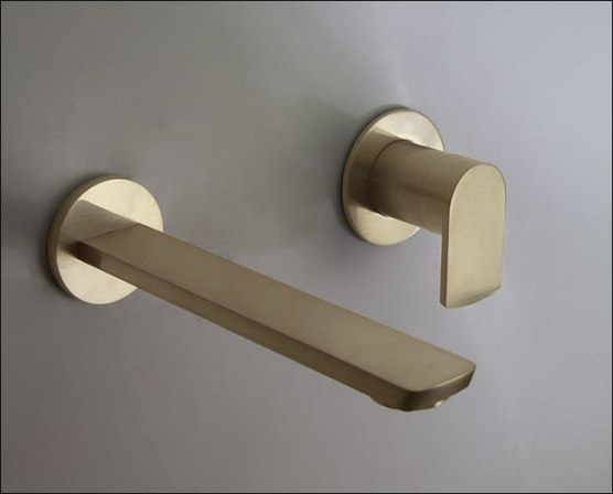 Moca-Brushed-Gold-Wall-Mounted-Basin-Tap-Spout-Brushed-UK-1
