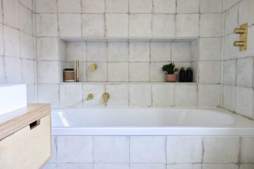 Encaustic effect porcelain tiles