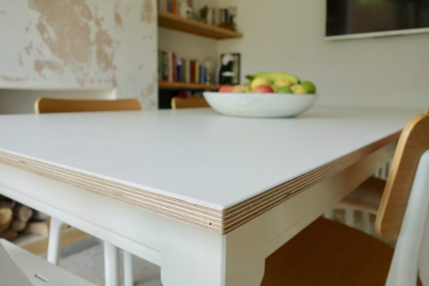 birch plywood table top Ikea Ingatorp
